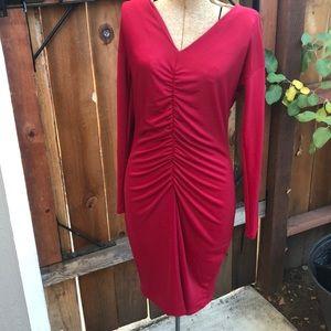 Narcisco Rodriguez M red dress